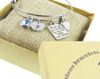Hand Stamped Bridesmaid Gifts - Birthstone Bridesmaid Bracelets - Bridesmaids Gifts - Wedding Day Gift - Gifts - Expressions Bracelets