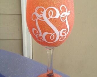 Vine Monogram Wine Glass