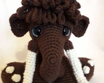 Crochet 'Mortimer' Woolly Mammoth Amigurumi Character Plush