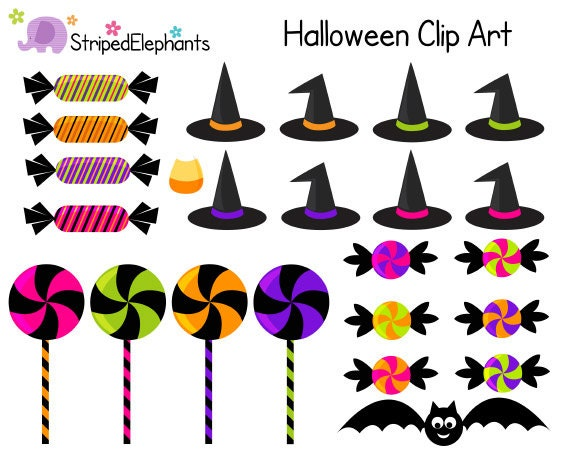 Digital Clip Art Halloween Candy Clipart Digital