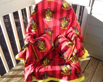 Harry Potter Gryffindor House Crest Blanket and Pillow Set - Two Throw Pillows