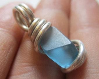 Blue Topaz Pendant / Blue Topaz Necklace / Blue Topaz Jewelry / Communication Stone / The Writer's Stone / December Birthstone