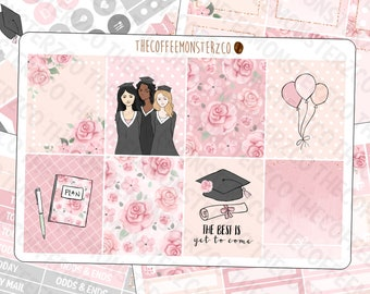 Graduation Day - FULL Vertical Kit - hand painted planner sticker kits perfect for commencement!