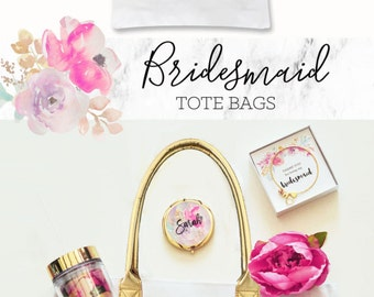 Bridesmaid Gift Bag Bridesmaid Tote Bags Bridesmaid Bags Bridesmaid Gift Ideas Bridesmaid Bag Ideas (EB3162BPW)