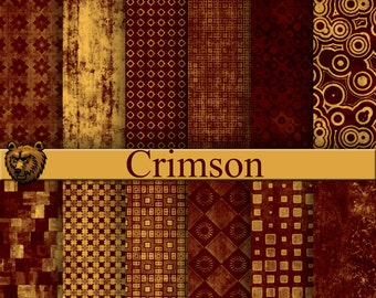 crimson digital paper, scrapbook paper, background paper
