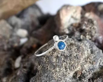 Sterling Silver Blue Chrysocolla Stone Set Ring