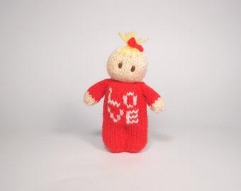Love  Bitsy Baby Doll valentines knitting pattern