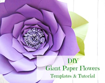 Giant Paper Flower Templates & Tutorials, Flower Wall, Flower templates, Paper Flower Backdrop