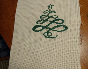 Swirled Christmas Tree Cross Stitch