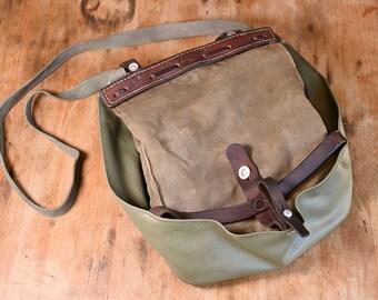 Swiss Army Bag, Made in Switzerland - 1976; Satchel, Crossbody Canvas Messenger Bread Bag