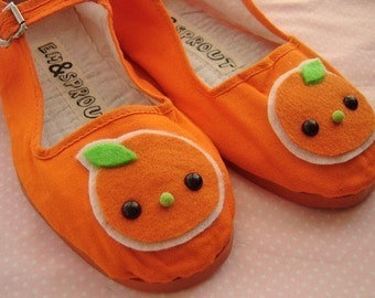 Little Tangerine Mary Janes - Size 11