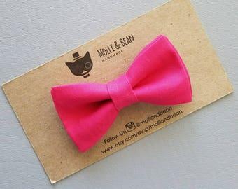 Fuchsia BowTie, Hot Pink BowTie, Boys Fuchsia BowTie, Men's Fuchsia BowTie, Easter BowTie, Groomsmen Pink Bowtie
