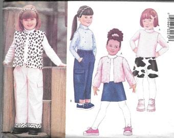 Butterick Fast & Easy JACKET Pants VEST TOP Skirt  Pattern 6785 Children's 2 3 4 5