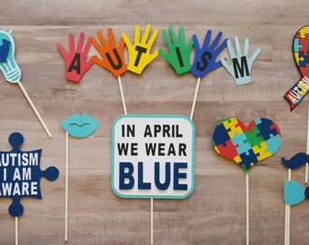 Autism Awareness Photo Booth Props