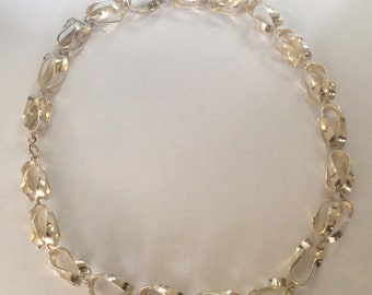 continental silver .853 hand made necklace 18 inches long #2000