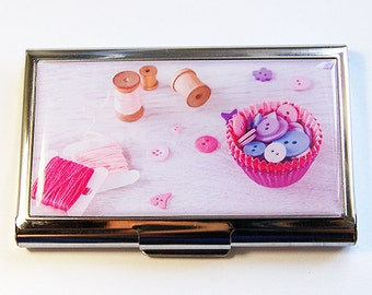Sewing Needle case, Sewing supplies, Needle holder, Needle case, Needle organizer, Quilting Needle case, pink, purple, Kellys Magnets (4413)