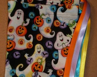 Friendly Ghosts/Halloween      drawstring gift/treat/goody/storage bags