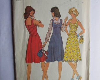 Vintage Simplicity 7437 Misses Dress or Jumper and  Handbag Sewing Pattern - Size 10