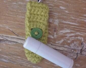 Crochet Chap Stick Holder Keychain