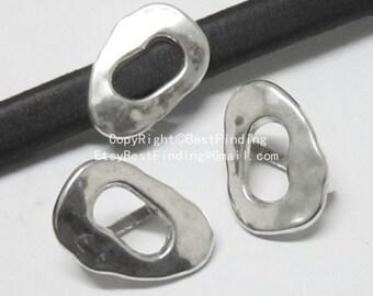 10pcs Irregular Oval Licorice leather findings 10x6mm licorice leather slider