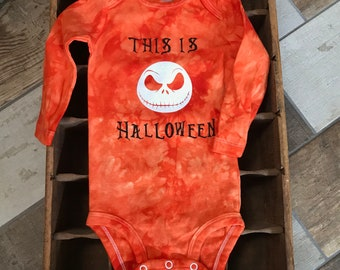 Free Shipping* Jack Skellington This is Halloween Hand Dyed Bodysuit