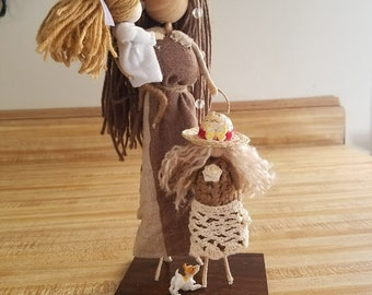 Mother fairy doll with her 2 children