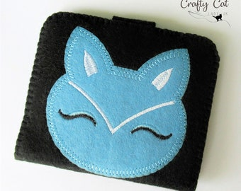Cat needle case, needle book, felt needle case, cat gift, cat lady, cat lover