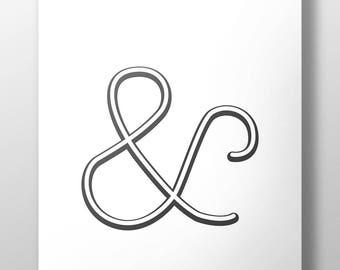 Ampersand Graphic Print