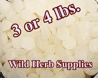 3 OR 4 lbs. BULK BEESWAX, Organic White Pellets ~ Wholesale Prices!