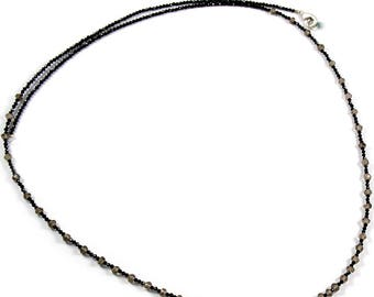 Necklace ! Black Spinel Rondelle Beads 68 Cm Strands Excellent Natural Brown Smoky Quartz Faceted Rondelle Shape Beads Long Necklace