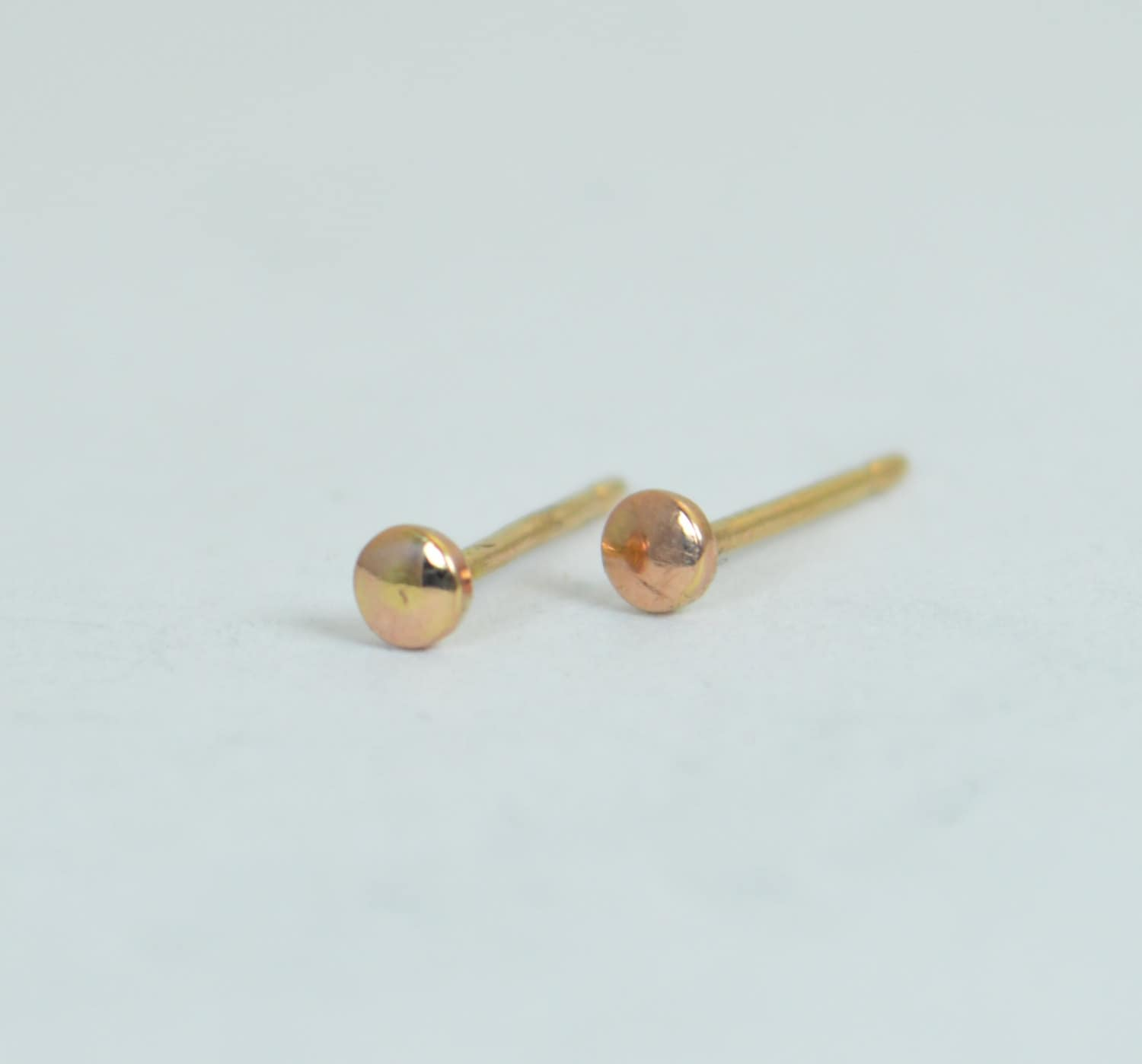 small heart posts gold product silver round original earrings sterling simple jewelry studs minimal in