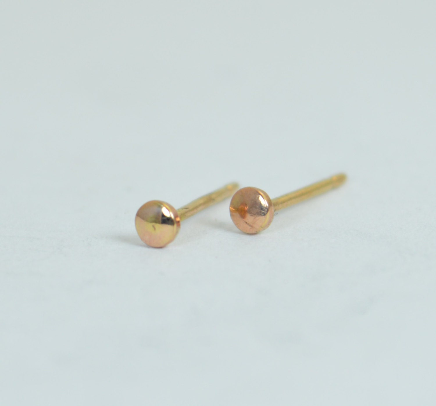 earrings rose post products marie studs simple in gold half stud altana moon diamond