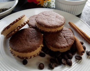Chocolate Espresso cookies, Espresso Sandwich Cookies, Chocolate Cookie, Sandwich Cookies, Gift under 20, Christmas Gift, Gift for Her