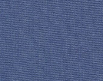 Recycled Water Bottle ORGANIC Cotton Blend Eco Twill Fabric Denim Blue MULTIPURPOSE