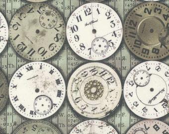 Tim Holtz Multi Timepieces fabric yardage