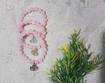 Be Love Bracelet~Rose Quartz; Mala
