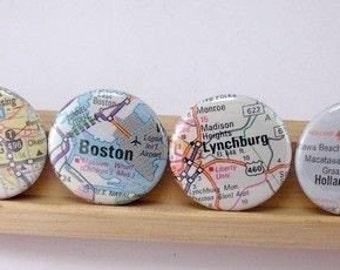 UNS Atlas oder die internationale Karte 1 Zoll 1 Zoll Knopf Magnete wählen Sie Städte Städte Staaten 4er Set