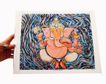 Blessed By Ganesh (Giclee print)