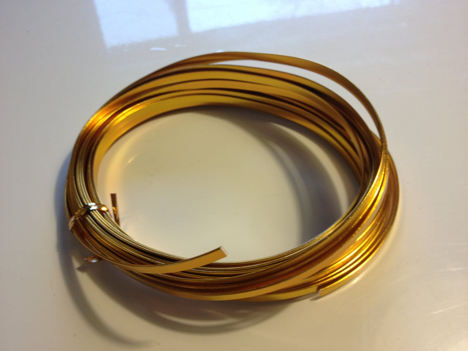Gold Flat Wire (32.8 feet), gold wire, aluminum wire, floral wire ...