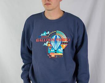 Vintage 90s Albuquerque Balloon Fiesta Crewneck Sweatshirt Size XXL