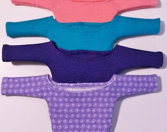 Fashion Royalty or Barbie & Similar.  Midriff, 1/2 Sleeve Top.   FOUR to Choose.