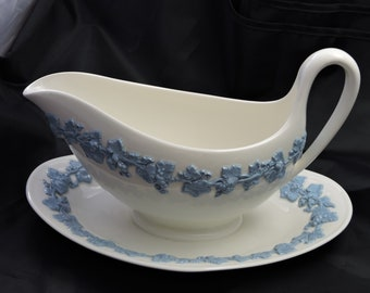Wedgwood Gravy Boat with Saucer.