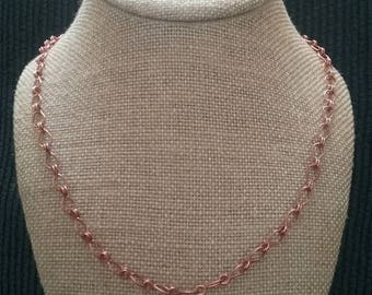 Handmade Copper Wire Link Necklace