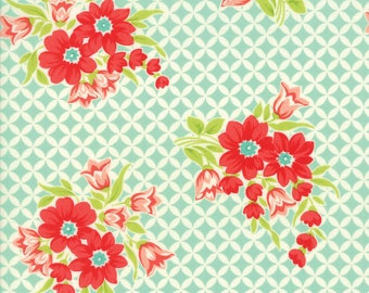 Handmade Gwendolyn Aqua by Bonnie and Camille for Moda, 1/2 yard cotton fabric