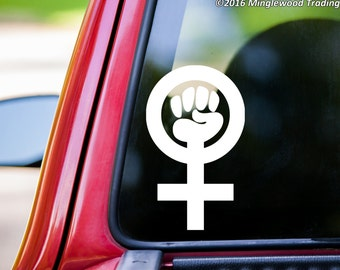 Feminism Symbol Sign vinyl decal sticker Women's Rights Equality Feminist *Free Shipping*