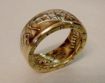 Ukrainian Coin Ring - Souvenir from Ukraine - 1 hryvnia - Rings from Coins