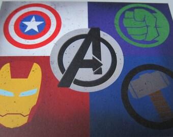 Avengers Postcard