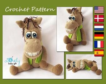 Amigurumi Pattern, Horse Crochet Pattern, Stuffed Animal, Toy Crochet Pattern, CP-133