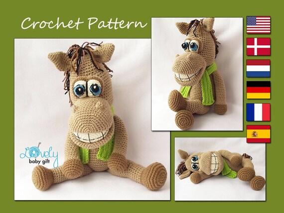 Amigurumi Pattern Horse Crochet Pattern Stuffed Animal Toy