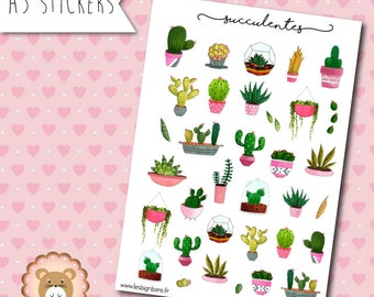 """""""Succulent"""" Stickers planners"""